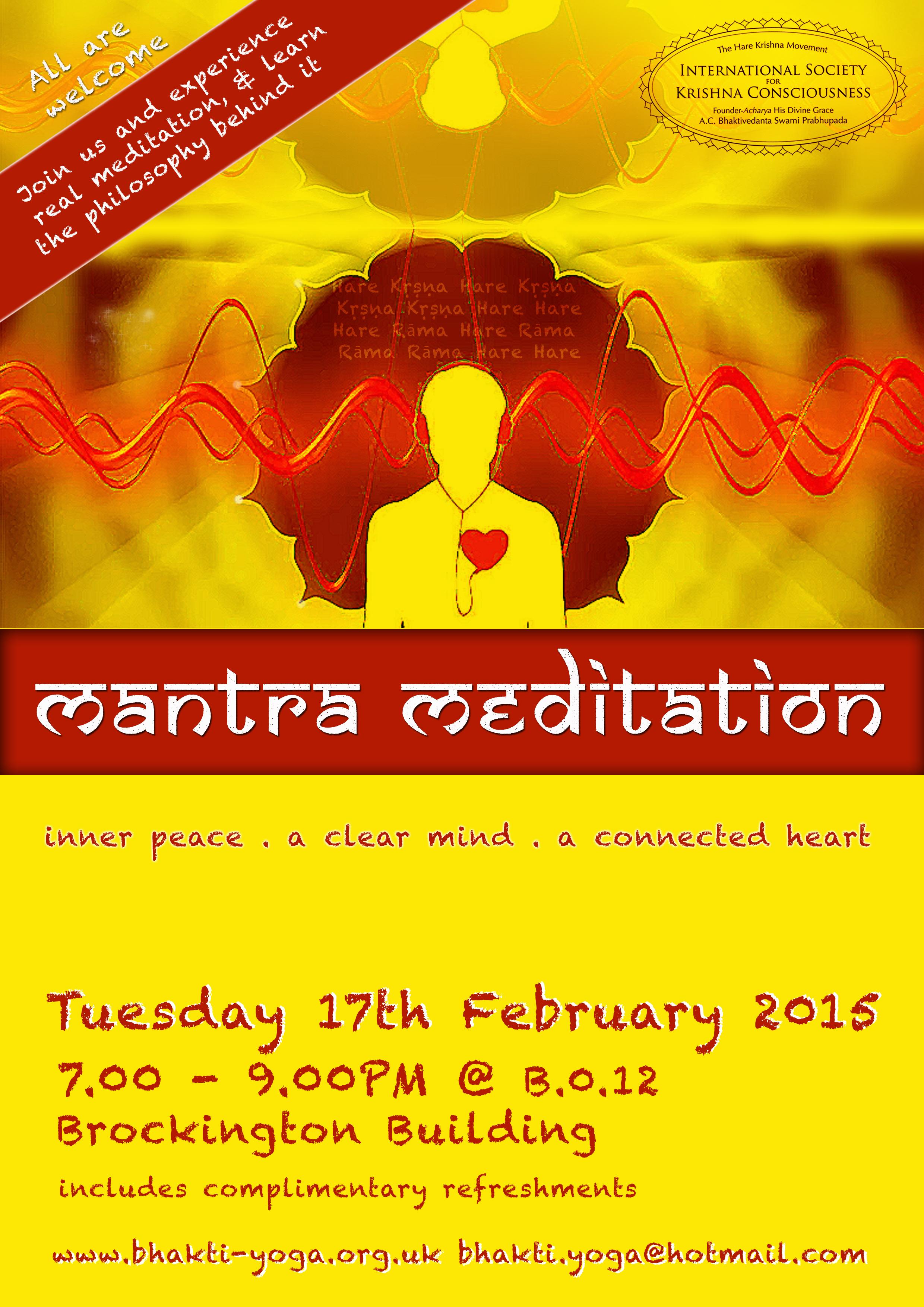 Meditation Flyer Mantra Meditation Flyer